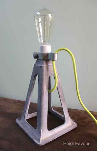 Galvanized Car Jack Lamp
