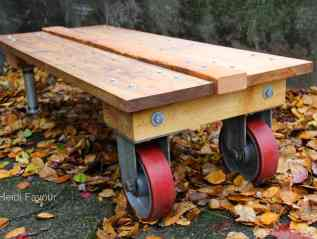 Red Caster Coffee Table